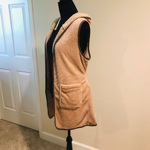 NWT soft furry long vest